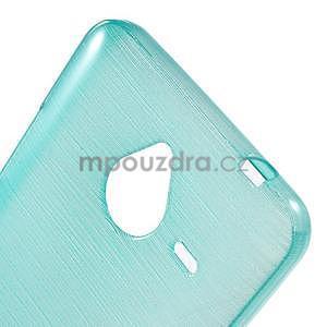 Gélový kryt s brúseným vzorom Microsoft Lumia 640 XL -  modrý - 4