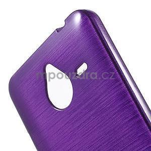 Gélový kryt s brúseným vzorom Microsoft Lumia 640 XL - fialový - 4