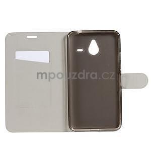 Peňaženkové PU kožené puzdro na Microsoft Lumia 640 XL - biele - 4