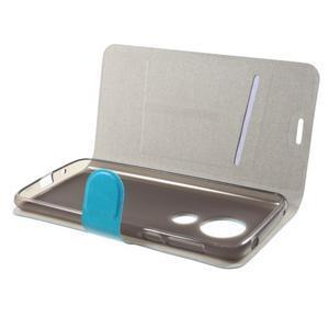 Horse PU kožené puzdro na mobil Motorola Moto G6 Play - modré - 4