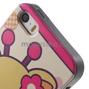 Gélové puzdro na iPhone 5 a 5s - kravička - 4