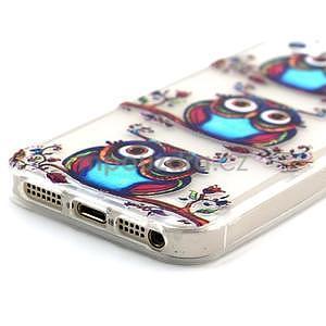 Fun gélový obal na iPhone 5s a iPhone 5 - sova - 4