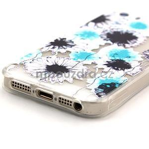 Fun gélový obal pre iPhone 5s a iPhone 5 - kvety - 4
