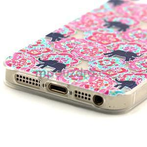 Fun gélový obal na iPhone 5s a iPhone 5 - slony - 4