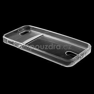 Ultra tenký obal s vreckom pre iPhone 5 a 5s - transparentný - 4