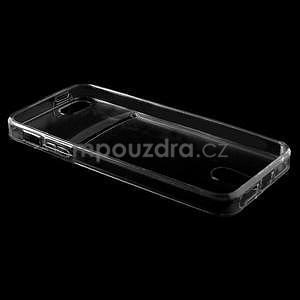 Ultra tenký obal s vreckom pre iPhone 5 a 5s - šedý - 4
