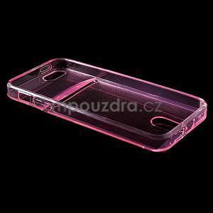 Ultra tenký obal s vreckom pre iPhone 5 a 5s - rose - 4