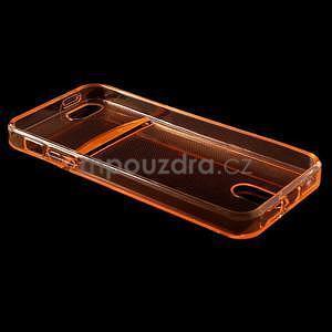 Ultra tenký obal s vreckom pre iPhone 5 a 5s - oranžový - 4