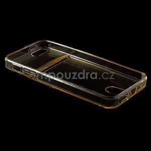 Ultra tenký obal s vreckom pre iPhone 5 a 5s - champagne - 4