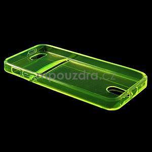 Ultra tenký obal s vreckom pre iPhone 5 a 5s - zelenožltý - 4