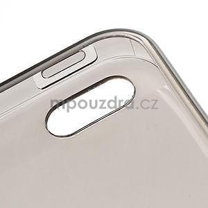 Gélový transparentný obal na iPhone 5 a 5s - šedý - 4