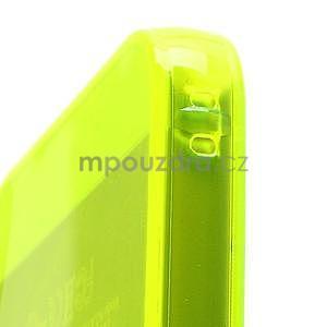 Gélový transparentný obal na iPhone 5 a 5s - žiarivo žltý - 4