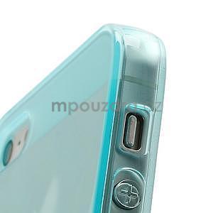 Gélový transparentný obal pre iPhone 5 a 5s - svetlomodrý - 4