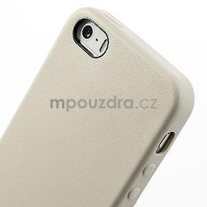 Gélový obal s textúrou na iPhone 5 a 5s - šedý - 4