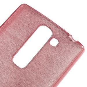 Brush gélový kryt na LG G4c H525N - ružový - 4