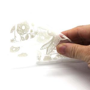Priehľadný gélový obal na LG G4c - vtáčik - 4