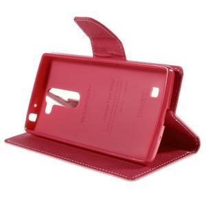 Diary PU kožené puzdro pre LG G4c- ružové - 4