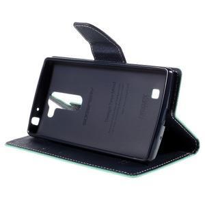 Diary PU kožené puzdro na LG G4c- cyan - 4