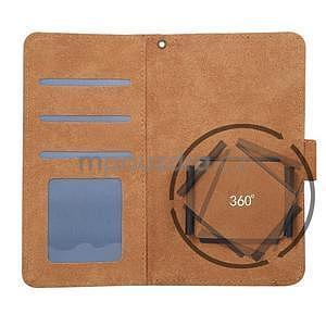 Croco PU kožené univerzálne puzdro na mobily do rozmeru 15,7 x 8 x1,8 cm - čierne - 4