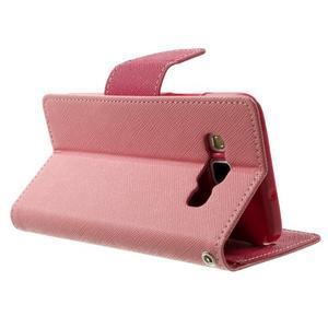Diary PU kožené puzdro na Samsung Galaxy A3 - ružové - 4