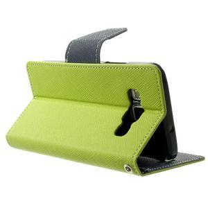 Diary PU kožené puzdro na Samsung Galaxy A3 - zelené - 4