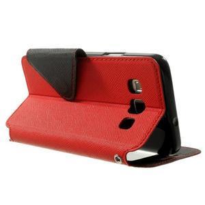 Roar peňaženkové puzdro s okienkom pre Samsung Galaxy A3    - červené - 4