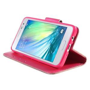 Puzdro na mobil Samsung Galaxy A3 - červené srdiečko - 4