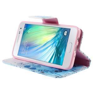 Peňaženkové púzdro na Samsung Galaxy A3 - modré púpavy - 4