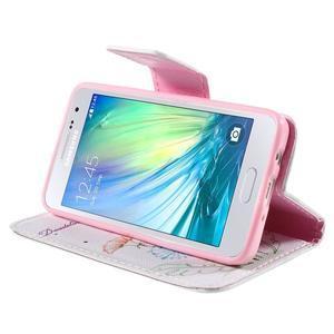 Peňaženkové púzdro na Samsung Galaxy A3 - kreslené púpavy - 4