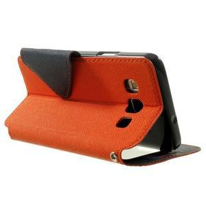 Roar peňaženkové puzdro s okienkom na Samsung Galaxy A3 - oranžové - 4