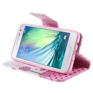 Peňaženkové púzdro pre Samsung Galaxy A3 - dots - 4