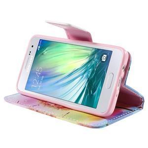 Peňaženkové púzdro na Samsung Galaxy A3 - oranžová púpava - 4