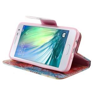 Peňaženkové púzdro na Samsung Galaxy A3 - malované púpavy - 4