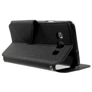 Roar peňaženkové puzdro s okienkom na Samsung Galaxy A3 - čierne - 4