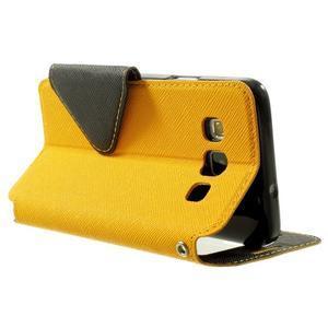 Roar peňaženkové puzdro s okienkom pre Samsung Galaxy A3    - žlté - 4
