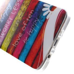 Gélový obal na mobil Samsung Galaxy A3 - farby dreva - 4