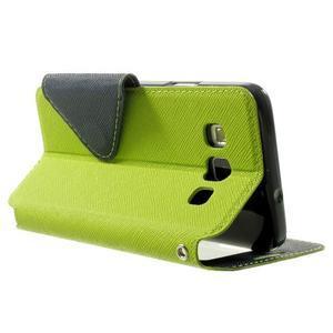 Roar peňaženkové puzdro s okienkom pre Samsung Galaxy A3 - zelené - 4