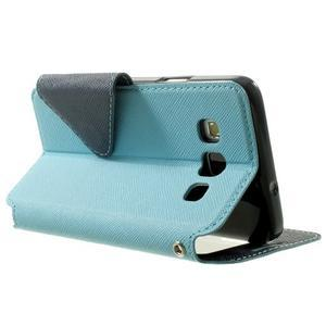 Roar peňaženkové puzdro s okienkom pre Samsung Galaxy A3 - svetlomodré - 4