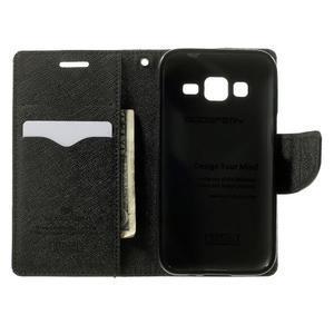 Fancy PU kožené puzdro pre Samsung Galaxy Core Prime - čierne - 4