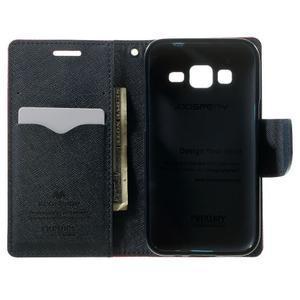 Fancy PU kožené puzdro pre Samsung Galaxy Core Prime - rose - 4