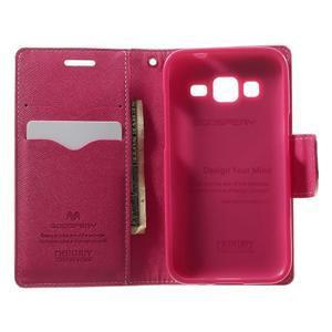 Fancy PU kožené puzdro pre Samsung Galaxy Core Prime - ružové - 4
