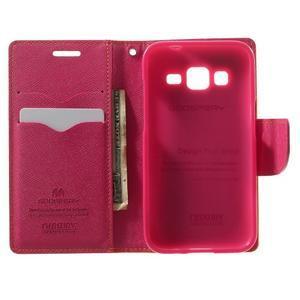 Fancy PU kožené puzdro pre Samsung Galaxy Core Prime - žlté - 4