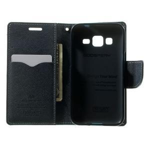 Fancy PU kožené puzdro pre Samsung Galaxy Core Prime - azúrové - 4