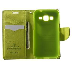 Fancy PU kožené puzdro pre Samsung Galaxy Core Prime - tmavomodré - 4