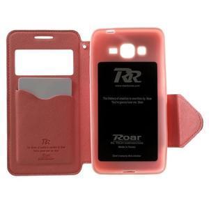 Safety puzdro s okienkom pre Samsung Galaxy Grand Prime - rose - 4