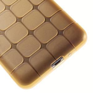 Square gélový obal pre Samsung Galaxy Grand Prime - zlatý - 4
