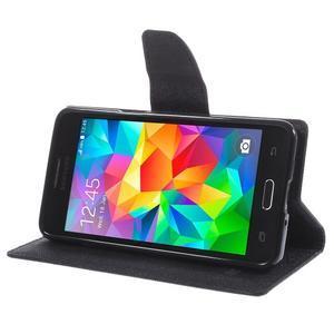 Diary PU kožené puzdro na mobil Samsung Galaxy Grand Prime - čierne - 4