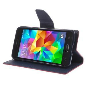 Diary PU kožené puzdro na mobil Samsung Galaxy Grand Prime - červené - 4