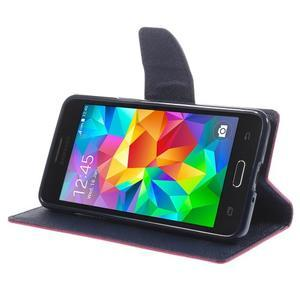 Diary PU kožené puzdro pre mobil Samsung Galaxy Grand Prime - rose - 4