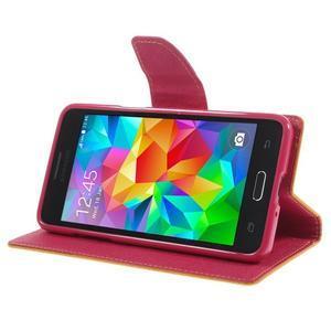 Diary PU kožené puzdro na mobil Samsung Galaxy Grand Prime - žlté - 4